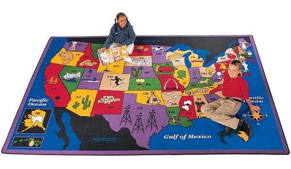 Geography Discover America Area Rug by Carpets for Kids