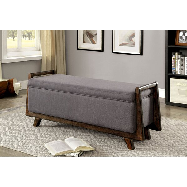 Beier Fabric Wooden Upholstered Storage Bench by George Oliver