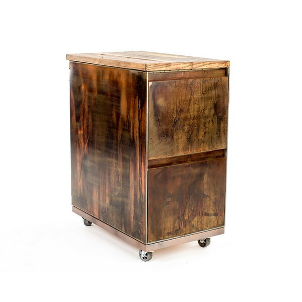 2-Drawer Mobile Vintage File Cabinet by Urban 9-5