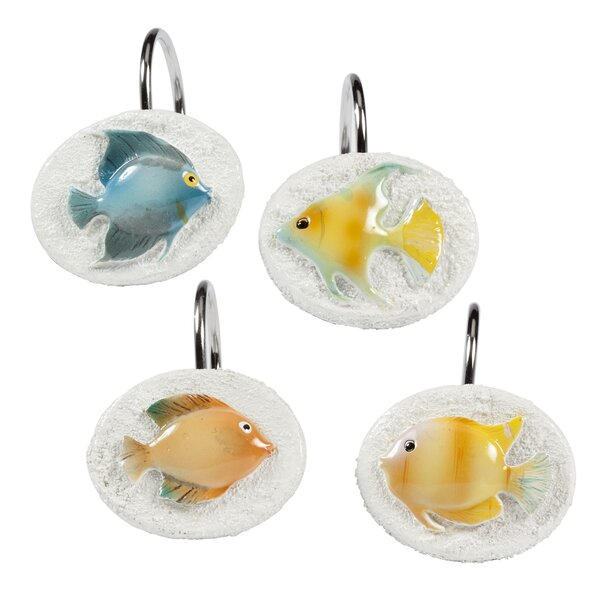 Cater Fish Shower Curtain Hooks by Highland Dunes