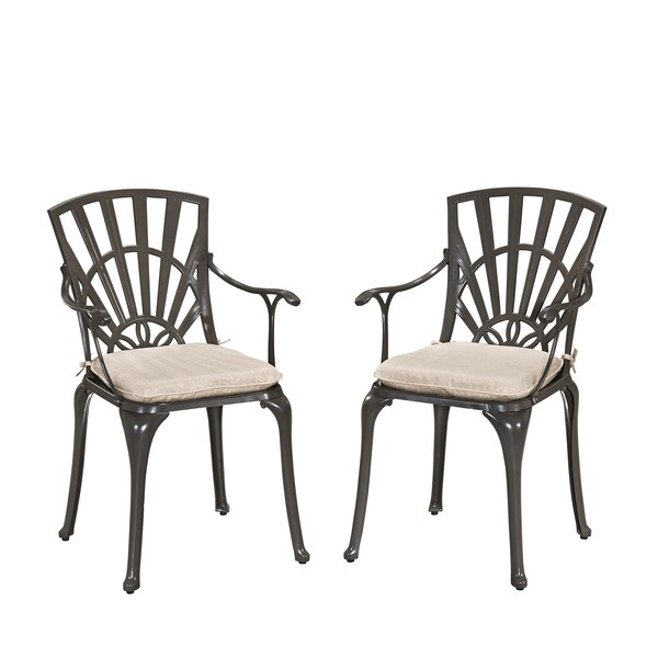 Frontenac Patio Dining Chair with Cushion (Set of 2) by Astoria Grand
