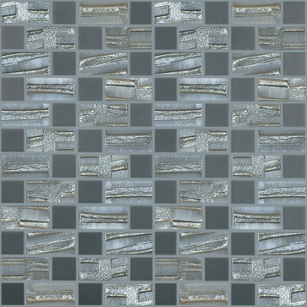 Moon Blends 12.375 W x 12.375 L Eco Glass Mosaic in Starry Night by Kellani