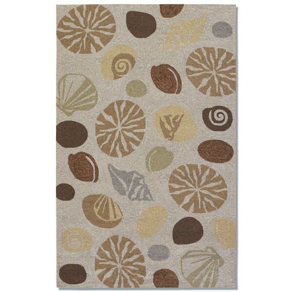 Rundall Hand-Hooked Tan Indoor/Outdoor Area Rug by Highland Dunes