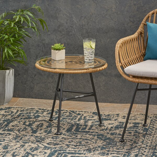 Massenburg Steel Side Table By Bungalow Rose by Bungalow Rose No Copoun