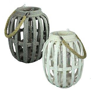 Big Save Wood Lantern (Set of 2) By Breakwater Bay