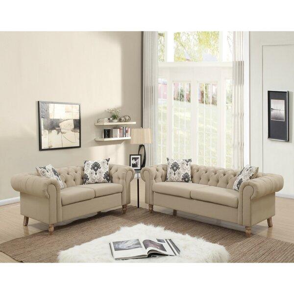 Destinie 2 Piece Living Room Set by House of Hampton