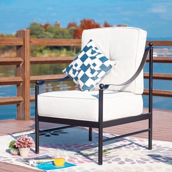Siems Patio Chair with Cushions by Charlton Home