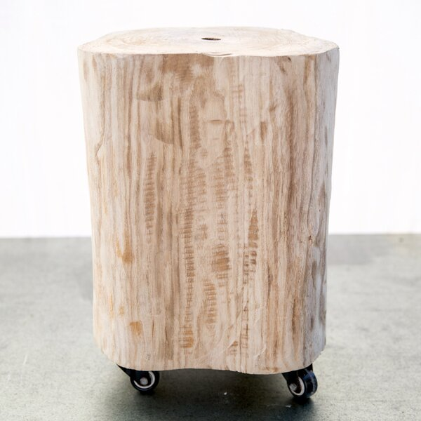 Burel Wood Stool by Trent Austin Design