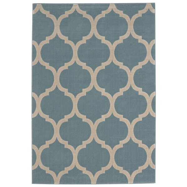 Kamena Teal Area Rug by Charlton Home
