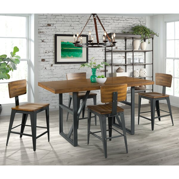 Keziah 5 Piece Counter Height Dining Set by 17 Stories