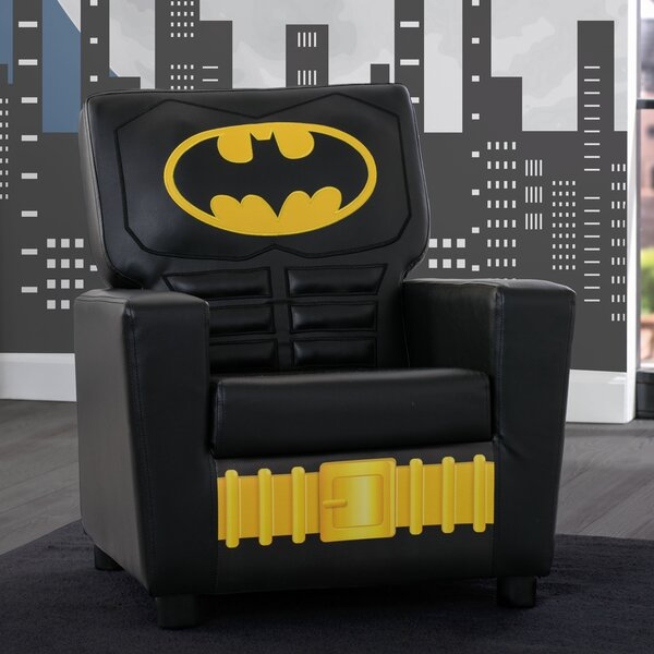 DC Comics Batman Kids Faux Leather Chair by Delta Children