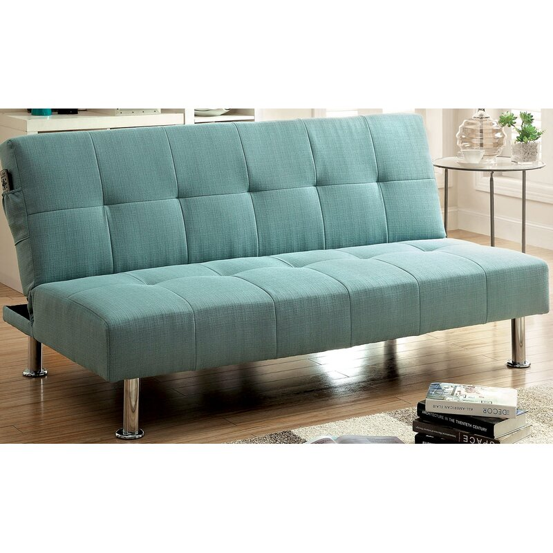 Tufted Futon Convertible Sofa