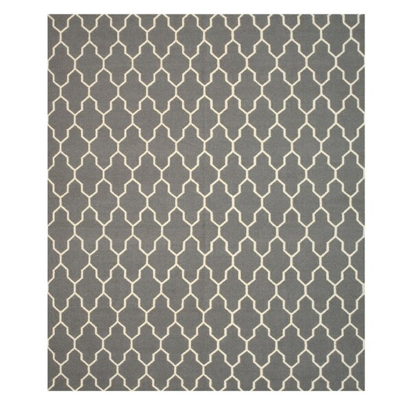 Hand Knotted Gray Area Rug by Eastern Rugs