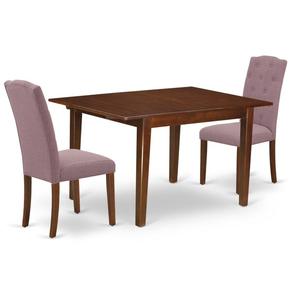 Maina 3 Piece Extendable Solid Wood Dining Set by Winston Porter Winston Porter