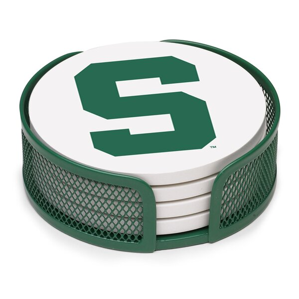 5 Piece Michigan State University Collegiate Coaster Gift Set by Thirstystone