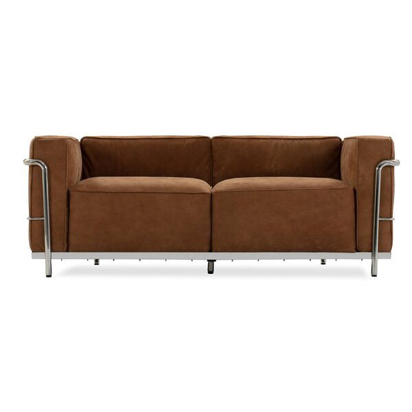 Unver Leather Loveseat By Ebern Designs