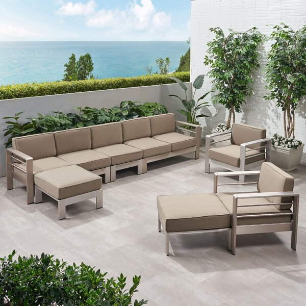 Dillion 7 Piece Sectional Seating Group with Cushions by Orren Ellis
