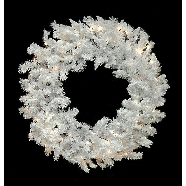 60 Artificial Flocked Spruce Christmas Wreath by Vickerman