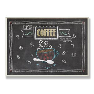 It's Coffee O'clock Chalkboard-Look Textual Art Wall Plaque by Stupell Industries