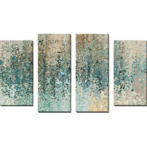 'Revealed' Framed 4 Piece Set on Canvas by Latitude Run