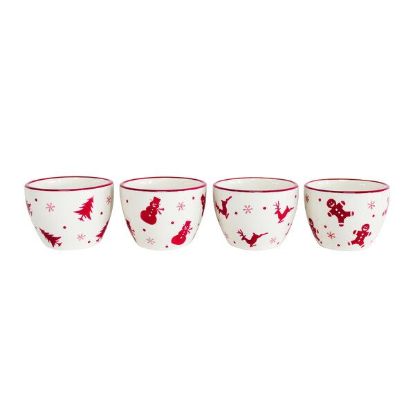 Winterfest 4 Piece Dipping Bowl Set by The Holiday Aisle