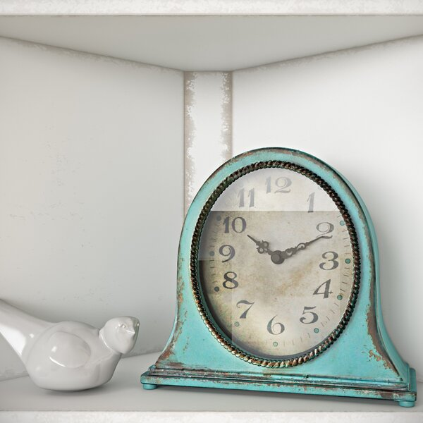 Traditional Metal Mantel Clock by One Allium Way