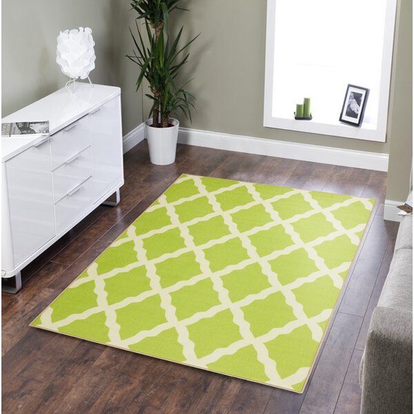 Staunton Lime Green/Ivory Area Rug by Charlton Home