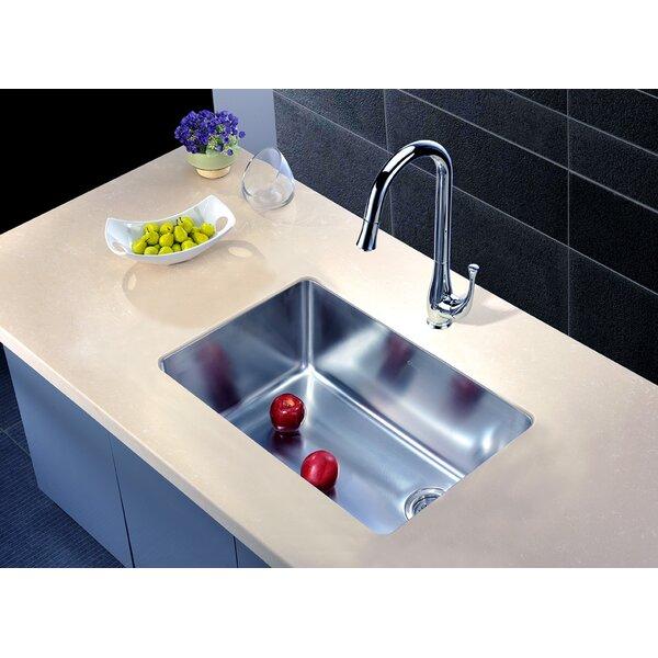 26.5 L x 18 W Under Mount Single Bowl Kitchen Sink by Dawn USA