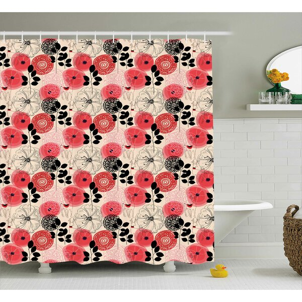 Alejos Circled Abstract Decor Shower Curtain by Bloomsbury Market