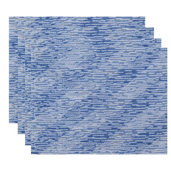 Cedarville Marled Knit Stripe Geometric Print Placemat (Set of 4) by Highland Dunes