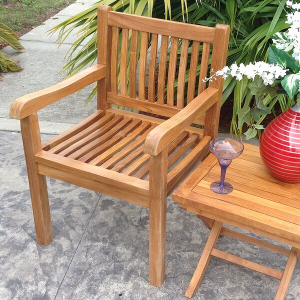 Quinlan Teak Patio Dining Chair by Darby Home Co