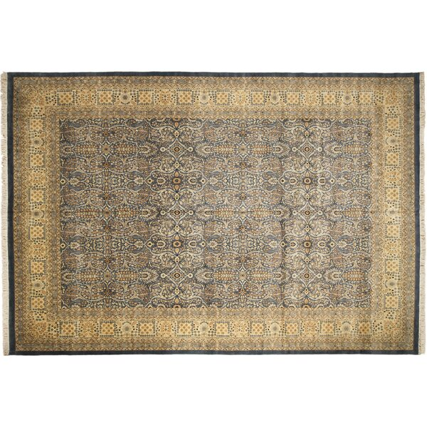 Pak-Persian Amal Hand Knotted Wool Light Blue Area Rug by Noori Rug