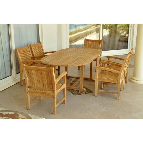 Bahama 7 Piece Teak Dining Set by Anderson Teak