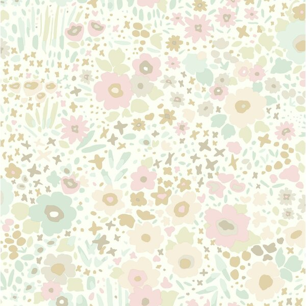 Baby & Kids Posey Sidewall by York Wallcoverings