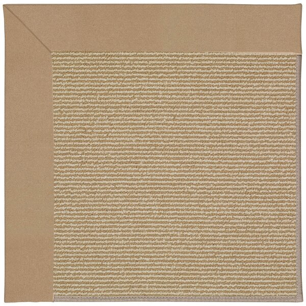Lisle Machine Tufted Biscuit/Brown Indoor/Outdoor Area Rug by Longshore Tides