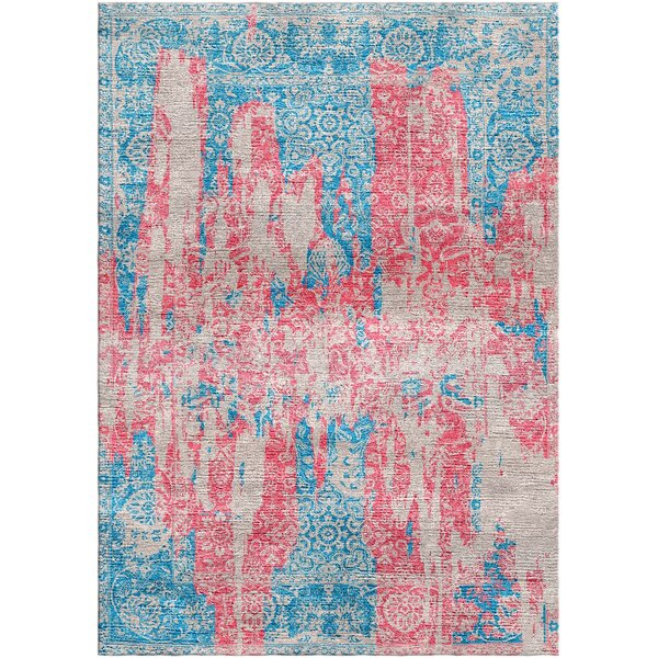 Aliza Handloom Blue/Rose Area Rug by Bungalow Rose
