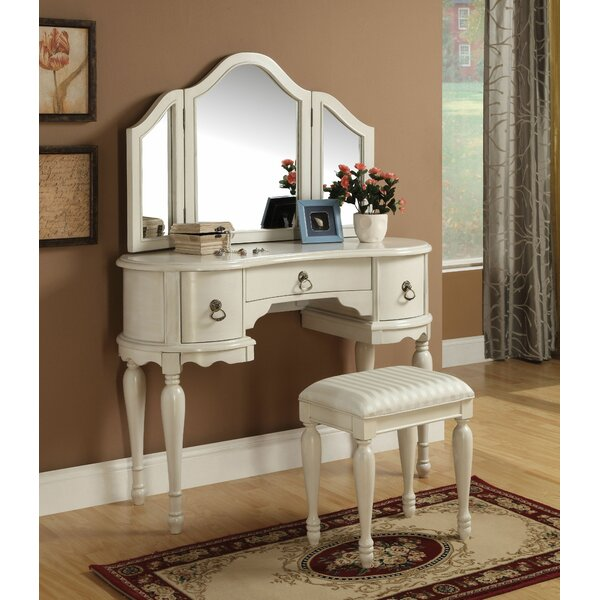 Epworth Vanity Set with Mirror by Canora Grey
