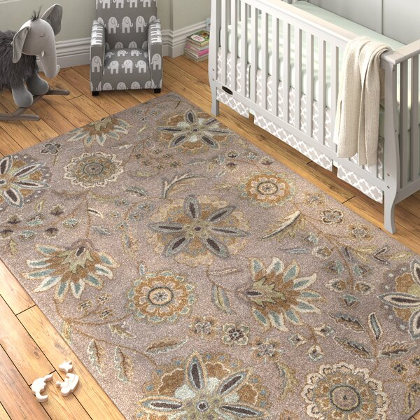 Jasmine Gray Tufted Wool Area Rug by Birch Lane™