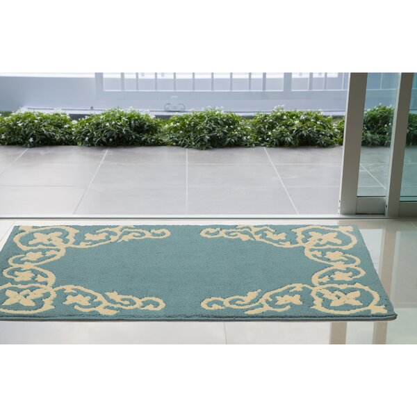Rainer Blue/Beige Area Rug by Charlton Home