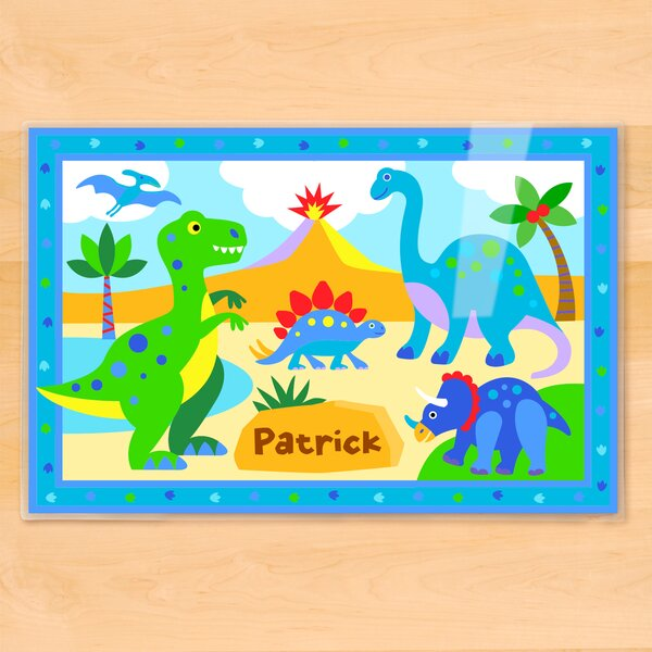 Dinosaur Land Personalized Placemat by Olive Kids