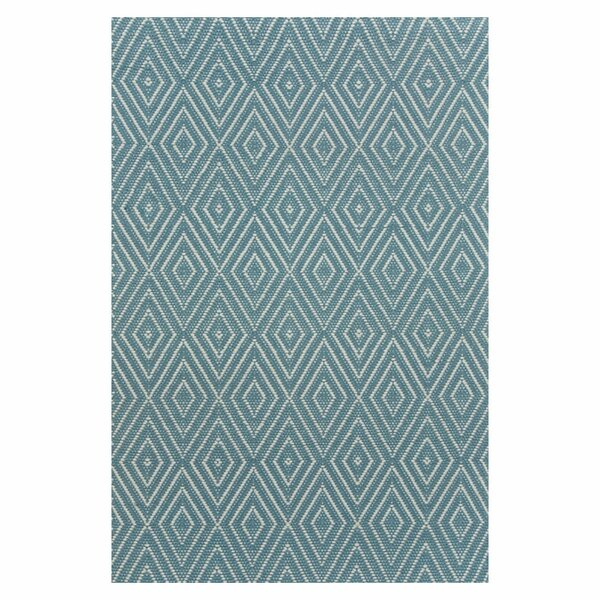 Hand Woven Blue Indoor/Outdoor Area Rug by Dash and Albert Rugs