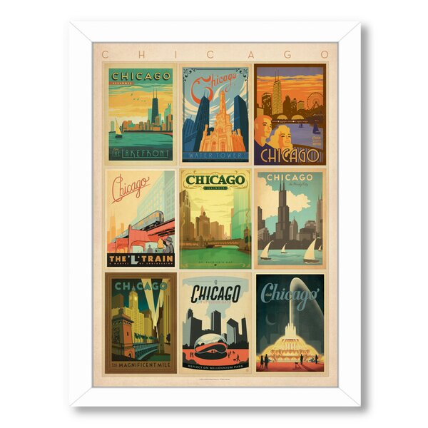 Chicago Multi Print 2 Framed Vintage Advertisement by East Urban Home