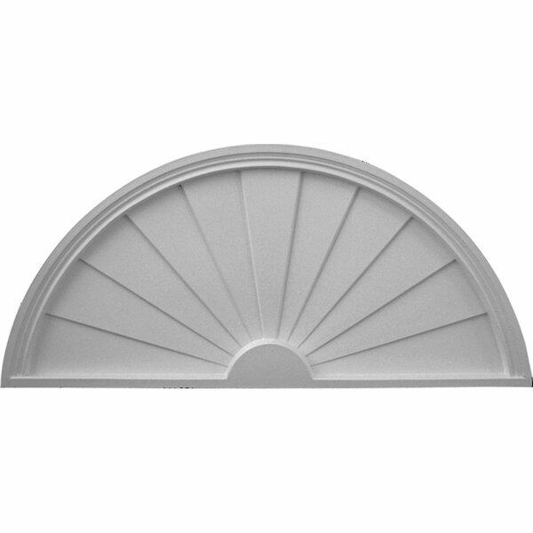 18 1/8H x 40W x 1 3/4D Half Round Sunburst Pediment by Ekena Millwork