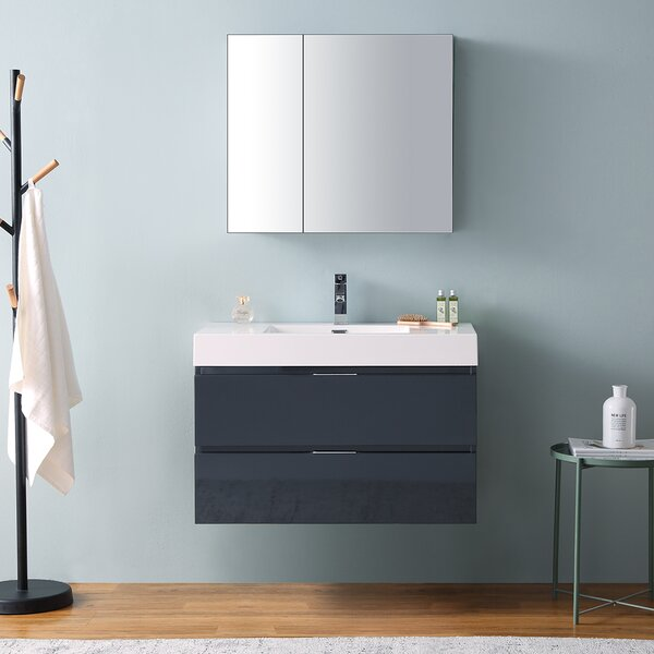 Senza Valencia 36 Single Bathroom Vanity Set by FrescaSenza Valencia 36 Single Bathroom Vanity Set by Fresca