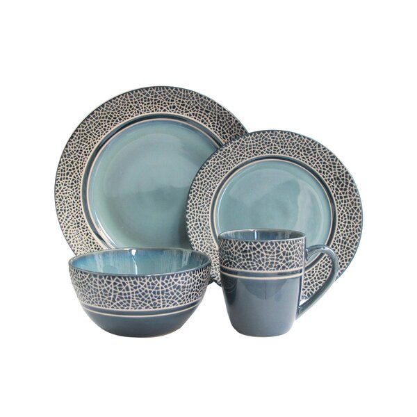 Restormel Mosaic 16 Piece Stoneware Dinnerware Set by Winston Porter