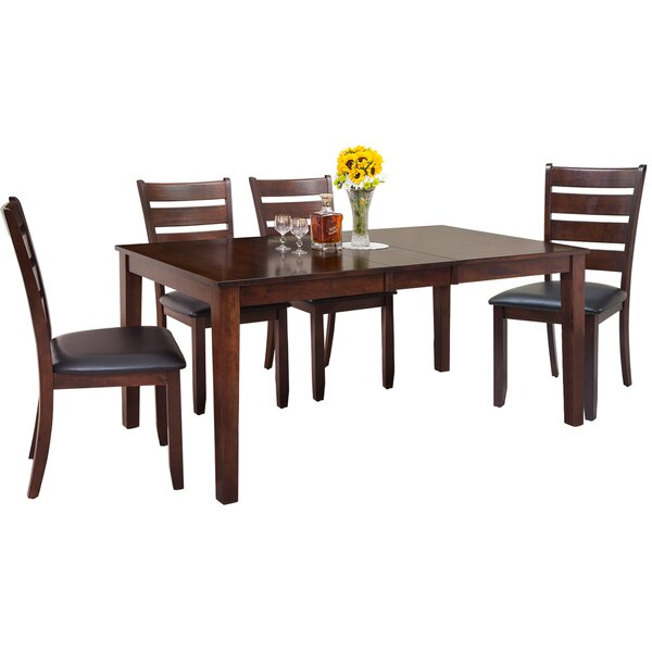 Downieville-Lawson-Dumont Traditional 5 Piece Solid Wood Dining Set by Loon Peak