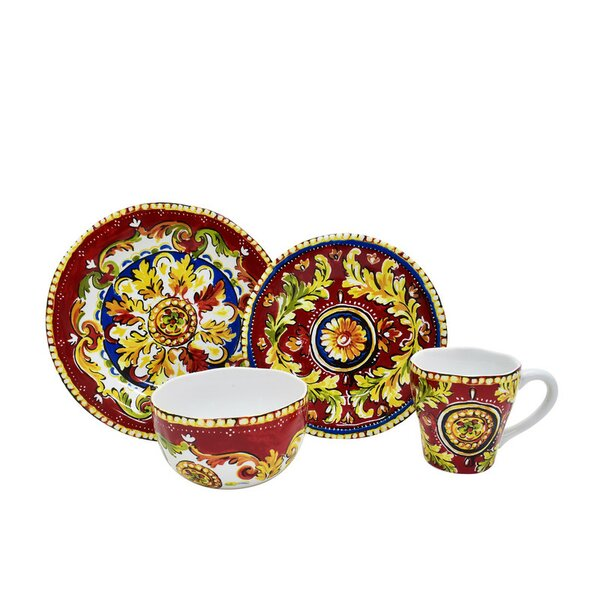 Oberon 16 Piece Dinnerware Set, Service for 4 by 222 Fifth