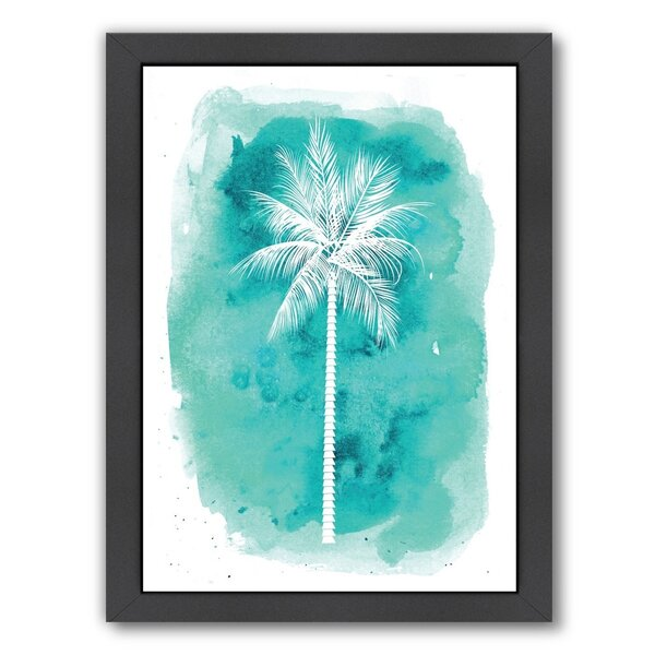 B Palm Framed Painting Print by Bay Isle Home