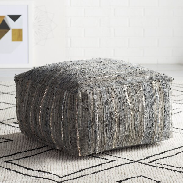 Home Décor Bolin Leather Pouf