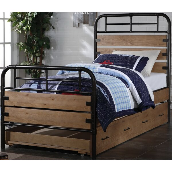 Olson Twin Panel Bed with Trundle by Loon Peak